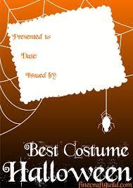 Halloween Template Certificate Templates Best Halloween Costume