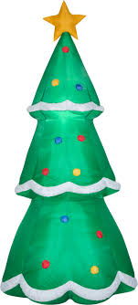 Details About 10 Ft Giant Inflatable Christmas Tree Airblown Lighted Yard Garden Holiday Tower