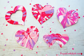 easy heart spin painting for valentine