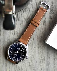 watch strap brown barenia leather