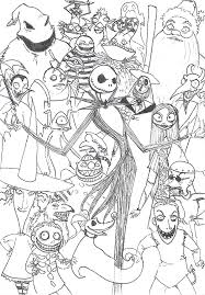 Small Picture Extraordinary Nightmare Before Christmas Coloring Page Best