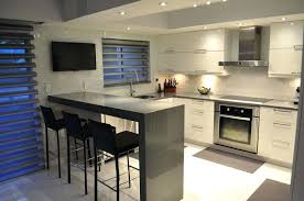 modern small kitchen design small modern kitchen with gray quartz counter peninsula and white cabinets modern modern small kitchen design