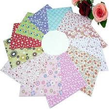 Paper Flower Folding Unknown 72 Sheets 15x15cm Mix Color Square 12 Kinds Of