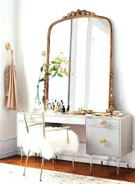 desk mirror with lights vanity mirrors makeup large size of table and