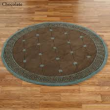 athens greek key round rug 5 round
