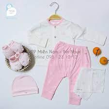 Bộ Nous cài thẳng dài newborn hồng trắng sơ sinh tại TP. Hồ Chí Minh