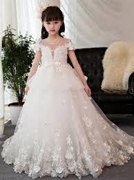 ball gown flower girl dresses. short sleeves beading ball gown flower girl dress \u0026 formal dresses