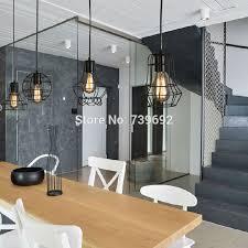 warehouse style lighting. Loft Lamp Vintage Pendant Light Led Balck Iron Metal Cage Lampshade Warehouse Style Lighting E