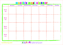 monthly meal planner template beautiful meal plan template excel best templates