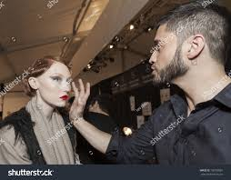 new york february 10 edward cruz of make up for ever works model backse