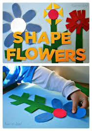 felt shape flowers activity from fun a day at b inspiredmama