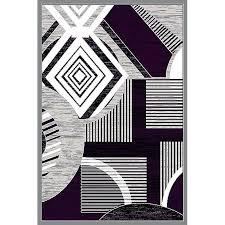purple grey area rug gray large
