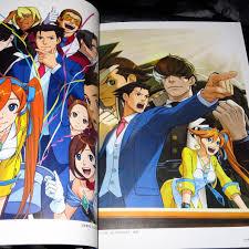 gyakuten saiban ace attorney 5 official visual art book
