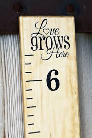 Vinyl Growth Chart Diy Vinyl Growth Chart Ruler Decal Kit Large Style Love