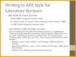 Lit Review Example Apa Literature Review Template Example For Research Proposal Ppt
