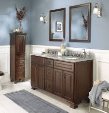 Custom bathroom cabinet ideas Corner Cabinet Double Vanity With Square Wall Mirror With Small Dresser As Inspiring Custom Bathroom Cabinet In Grey And White Wall Color Enddir Bathroom Cabinet Ideas For Small Bathroom Storage Organization