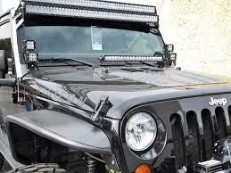 Led Lights For 2013 Jeep Wrangler Rigid 40333 20 Inch Led Light Bar Hood Mount Jeep Wrangler Jk