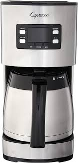 If you want hot coffee on standby for throughout the day, a thermal carafe coffee maker is an excellent choice. Amazon Com Capresso 435 05 Stainless Steel 10 Cup Thermal Coffee Maker St300 Kitchen Dining
