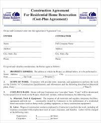 House Construction Agreement Format Under Fontanacountryinn Com