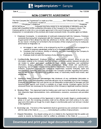 Nda Non Compete Template Non Compete Agreement Create A Non Compete Agreement Template