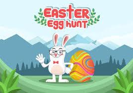 Easter Egg Hunt Vector Background Download Free Vectors