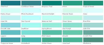 Jade Colour Chart Turquoise Color Chart Bedowntowndaytona Com
