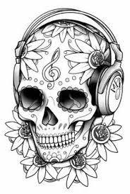 Kleurplaten Sugar Skull Skulls Pinterest Kleurplaten Sleutel