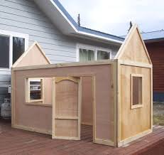 playhouse furniture plans many of which include yard storage options this project plan can simplify building a playhouse use lag our toys and play