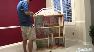 kidkraft majestic mansion dollhouse with furniture unboxing and construction you