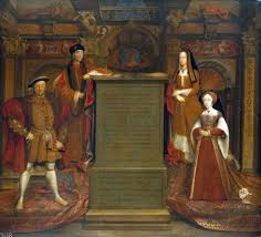 portrait of henry viii hans holbein analysis featuring top row henry vii and queen elizabeth of york bottom row henry viii and queen jane seymour