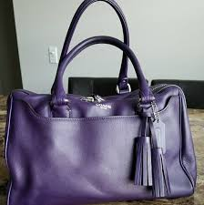 Purple Coach Satchel