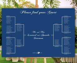Sport Themed Wedding Seating Chart Tournament Brackets