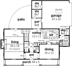 Decor Ranch House Plans With Basement  Rustic Ranch House Plans 2200 Sq Ft House Plans