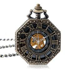 online get cheap engraved silver pocket watch aliexpress com caifu cool steampunk r numbers engraved skeleton mechanical hand wind pocket watch men women octagon pendant