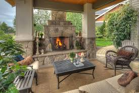 fire pit under covered patio outdoor covered patio with fireplace ideas