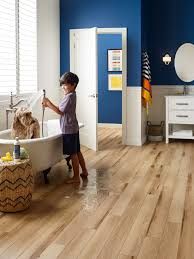 Each piece is 94 long and features a waterproof core wrapped in vinyl. Smartcore Flooring