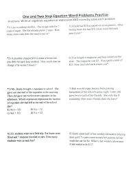 two step equation worksheets math solve multi step equations worksheet math worksheets one and two step equations