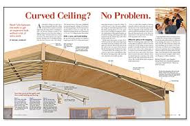 curved wood ceiling.  Curved Synopsis A Cathedral Ceiling Can Bring A Great Sense Of Openness And Space  To Room But With Small Investment Time Money You Add Some Drama  Intended Curved Wood Ceiling L