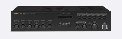 INTER-M PA60A MIXER AMPLIFIER 6x mic/line inputs, 1x telephone input,  60W/4ohm/70V/100V