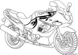 Coloriage Moto De Course 5 Dessin
