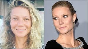 gwyneth paltrow split image no makeup insram getty images