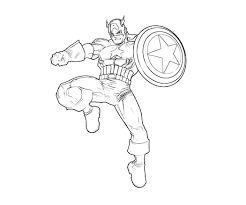 Printable Captain America Coloring Pages 4110, - Bestofcoloring.com