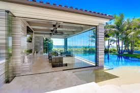 frameless folding sliding patio doors glass