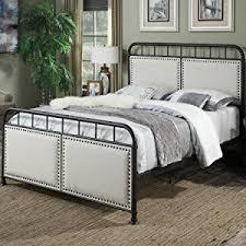metal upholstered bed.  Metal Upholstered BedWingback BedMetal BedShaker Metal BedScroll  To Bed U