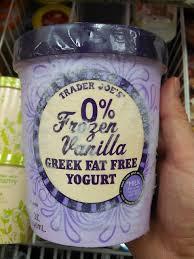 trader joe s fat free frozen vanilla greek yogurt 1