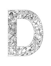 Small Picture 100 best Alphabet coloring images on Pinterest Mandalas