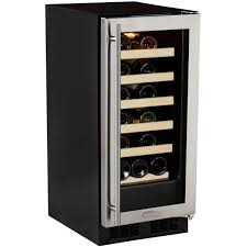 Cabinet With Wine Cooler Marvel 23 Bottle Wine Cooler W Microsentry Black Cabinet And
