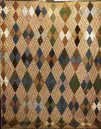 106 best Diamond QUILTS images on Pinterest | Quilt patterns ... & FOUR PATCH DIAMOND WOOL CHALLIS ANTIQUE QUILT Adamdwight.com