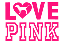 Designer Brand Logo Stickers Pink Sticker Love Pink 2 1 4 Pink Cricut Clip Art