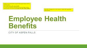 Retrospect Theme Powerpoint 2010 Employee Health Benefits City Of Aspen Falls Create A New
